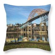 Bridge Over The River Throw Pillow