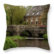 Bridge Over The River Clun Throw Pillow