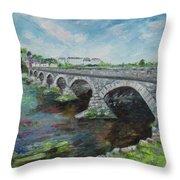 Bridge Over The River Laune, Killorglin Ireland Throw Pillow