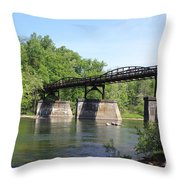 Bridge Over The River Throw Pillow