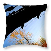 Bridge Over The River Sky Throw Pillow