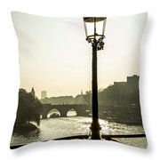 Bridge Over The Seine. Paris. France. Europe. Throw Pillow