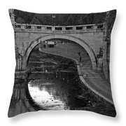 Bridge Over The Tiber Throw Pillow
