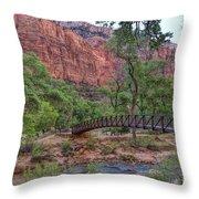 Bridge Over The Virgin River Throw Pillow