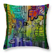 Bridge Over Troubled Water Throw Pillow by Mimulux patricia no No