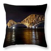 Bridge Over Water Lights. Throw Pillow