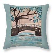 Bridge Over Water Throw Pillow