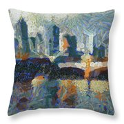 Bridge Over Yarra River In Melbourne Throw Pillow
