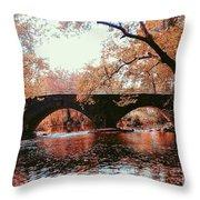 Bridge Over Yellow Breeches Creek Throw Pillow