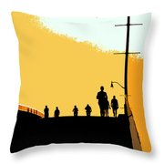 Bridge People Throw Pillow