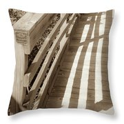 Bridge Railing Throw Pillow