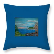 Bridge Scene Throw Pillow