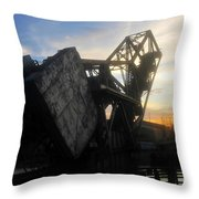 Bridge Sundown Throw Pillow