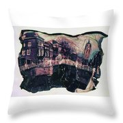 Bridge That Curved, Delft, Holland Throw Pillow