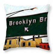 Bridge Thisaway Sketch Throw Pillow