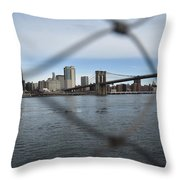 Bridge Through The Fence Throw Pillow
