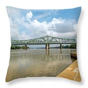 bridge to Belpre, Ohio Throw Pillow