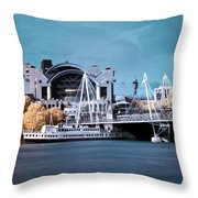 Bridge To Charing Cross Throw Pillow by Helga Novelli
