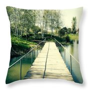 Bridge To Evening Island Throw Pillow