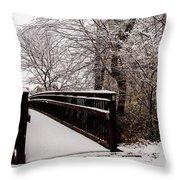 Bridge To Grandma's House Throw Pillow