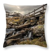 Bridge To Moutains Throw Pillow