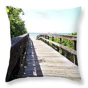 Bridge To Paradise Gp Throw Pillow