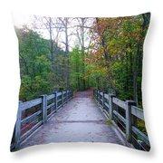 Bridge To Paradise - Wissahickon Valley Throw Pillow