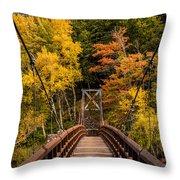 Bridge To Rainbow Falls Throw Pillow