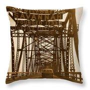 Bridge To Savannah Throw Pillow