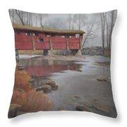 Bridge To Sleepy Hollow Throw Pillow