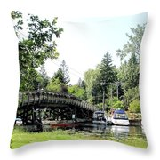 Bridge To The Club Throw Pillow
