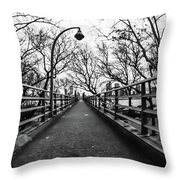 Bridge To The East River Throw Pillow