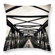 Bridge To The Past Throw Pillow