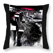 Bridge To Unknown Throw Pillow