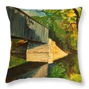 Bridge To Windham, Maine Throw Pillow
