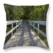 Bridge To Woods 1 Throw Pillow