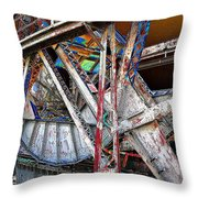 Bridge Works Throw Pillow