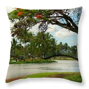 Bridges At Wailoa Throw Pillow