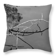 Bridges In Wood Throw Pillow