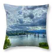 Bridges Of Chattanooga Tennessee Throw Pillow