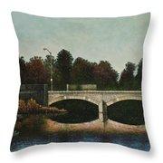 Bridges Of Forest Park Iv Throw Pillow