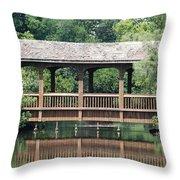 Bridges Of Miami Dade County Throw Pillow