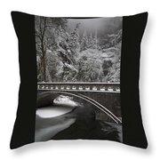 Bridges Of Multnomah Falls Throw Pillow