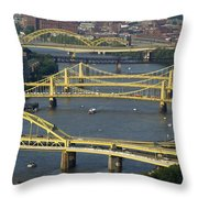 Bridges Of Pittsburgh Throw Pillow