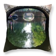 Bridges On Herengratch Canal In Amsterdam. Netherlands. Europe Throw Pillow