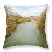 Bridges Over The Guadalupe Throw Pillow