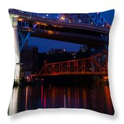Bridges Red White And Blue Throw Pillow