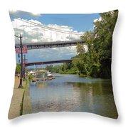 Bridges Spanning The Rondout Throw Pillow
