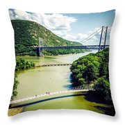 Bridges Through The Valley Throw Pillow