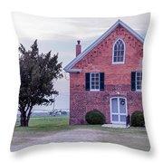 Bridgetown Historical United Methodist Church Throw Pillow